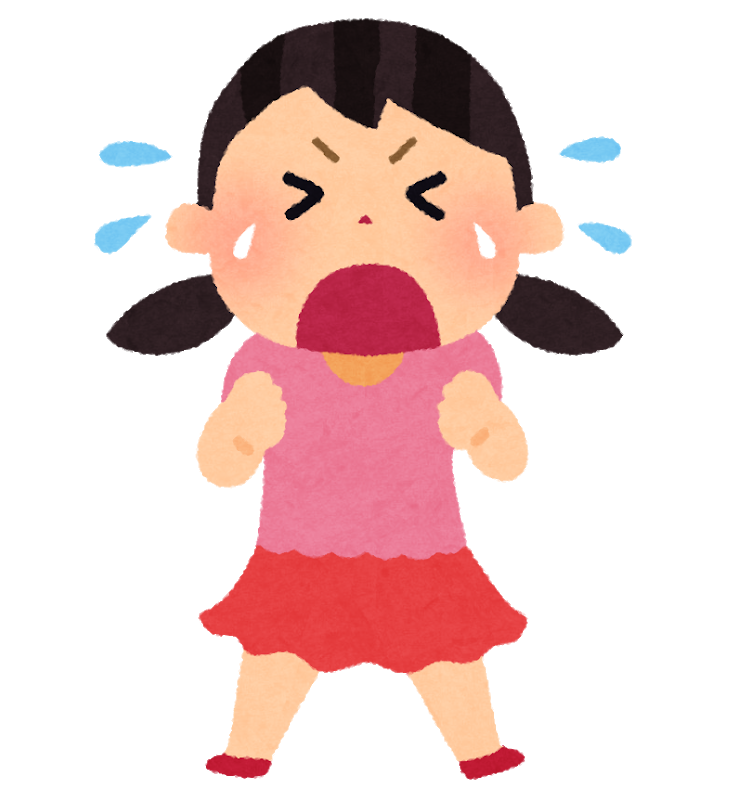 泣いた女の子